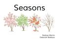 Seasons [Book Cover]