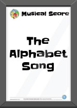 The Alphabet Song Musical Score